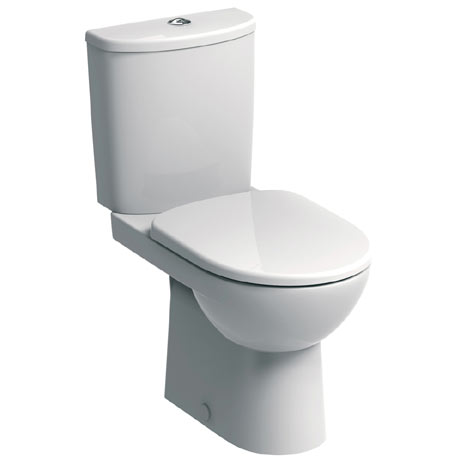 Twyford E100 Round Premium Close Coupled WC + Soft Close Seat