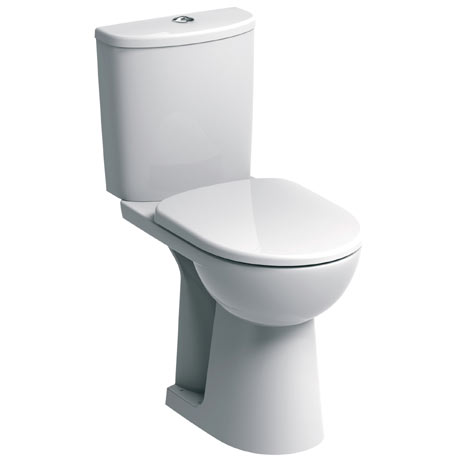 Twyford E100 Round Raised Height Close Coupled WC + Soft Close Seat