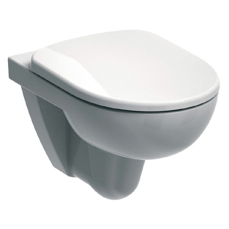 Twyford E100 Round Wall Hung WC + Soft Close Seat