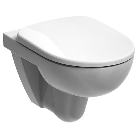 Twyford E100 Round Rimfree Wall Hung WC + Soft Close Seat
