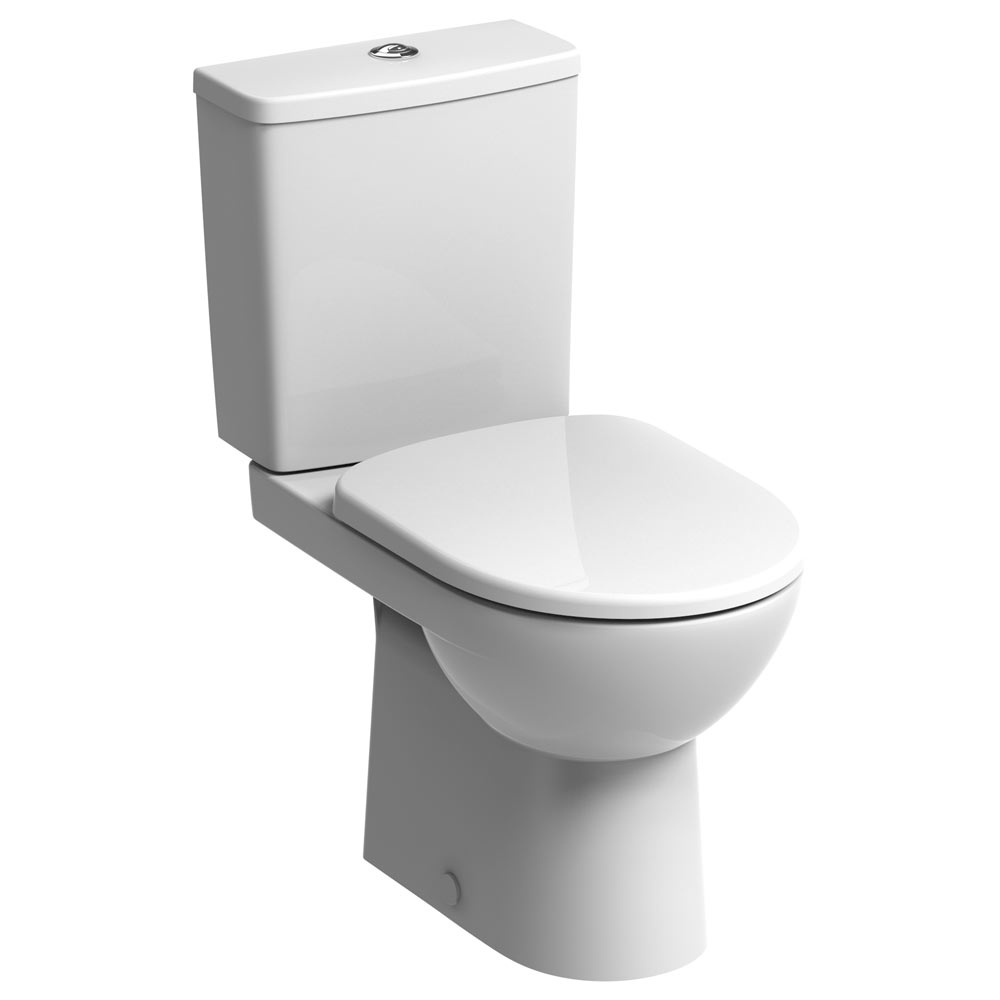 Twyford E100 Square Premium Close Coupled WC + Soft Close Seat