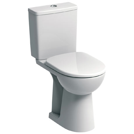 Twyford E100 Square Raised Height Close Coupled WC + Soft Close Seat
