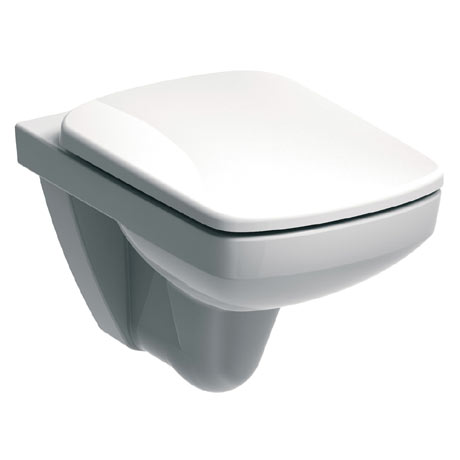 Twyford E100 Square Wall Hung WC + Soft Close Seat
