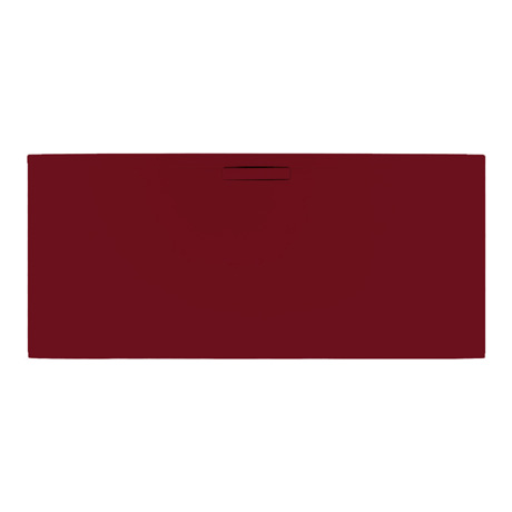 JT Evolved 25mm Rectangular Shower Tray - Malbec Red