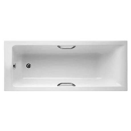Ideal Standard Concept 1700 x 700mm 0TH Single Ended Idealform Plus+ Bath with Grips