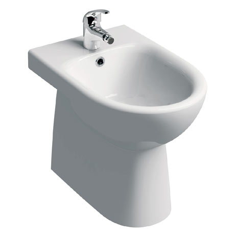 Twyford E100 Round Back to Wall Bidet