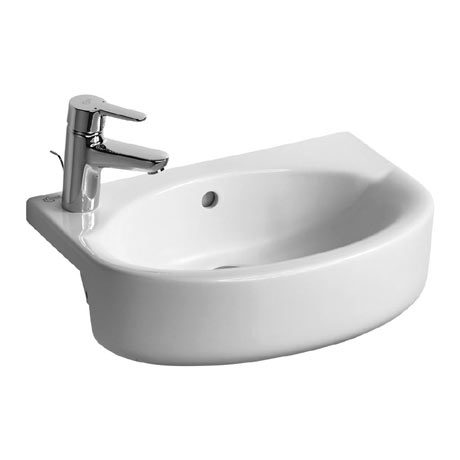 Ideal Standard Concept Space Arc 50cm 1TH Semi-Countertop Basin (Left Hand)