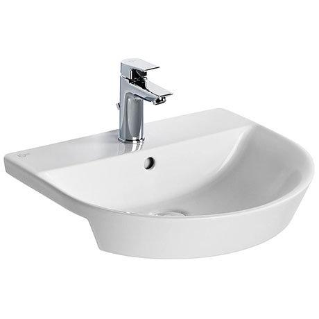 Ideal Standard Concept Air Arc 50cm 1TH Semi-Recessed Basin - E138901