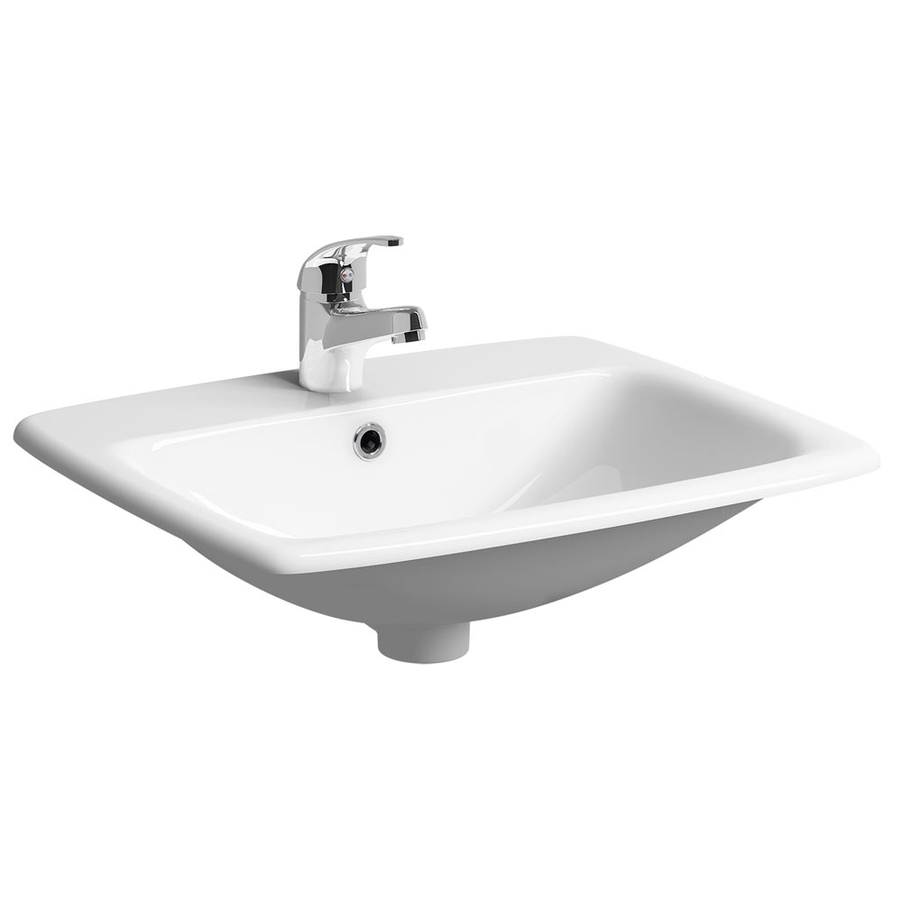 Twyford E100 Square 1TH Inset Countertop Basin