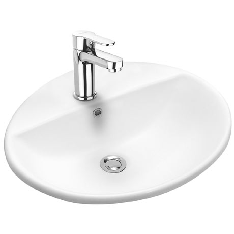 Twyford E100 Round 1TH Inset Countertop Basin