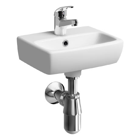 Twyford E100 Square 360mm 1TH Handrinse Basin