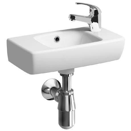 Twyford E100 Square 450mm Compact Handrinse Basin