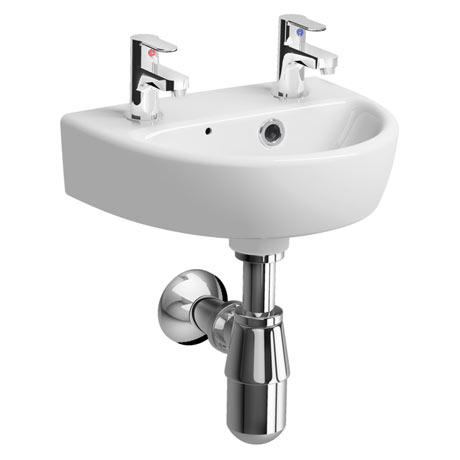 Twyford E100 Round 360mm 2TH Handrinse Basin