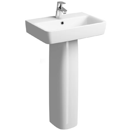 Twyford E200 Short Projection 1TH Basin & Pedestal