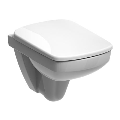 Twyford E200 Square Compact Wall Hung WC + Soft Close Seat