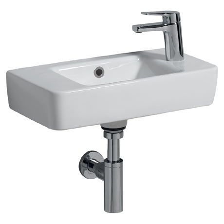 Twyford E200 Centre Bowl Washbasin (500 x 250mm - Right Hand Tap Hole)