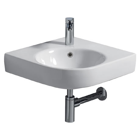 Twyford E200 Round 500mm 1TH Corner Basin