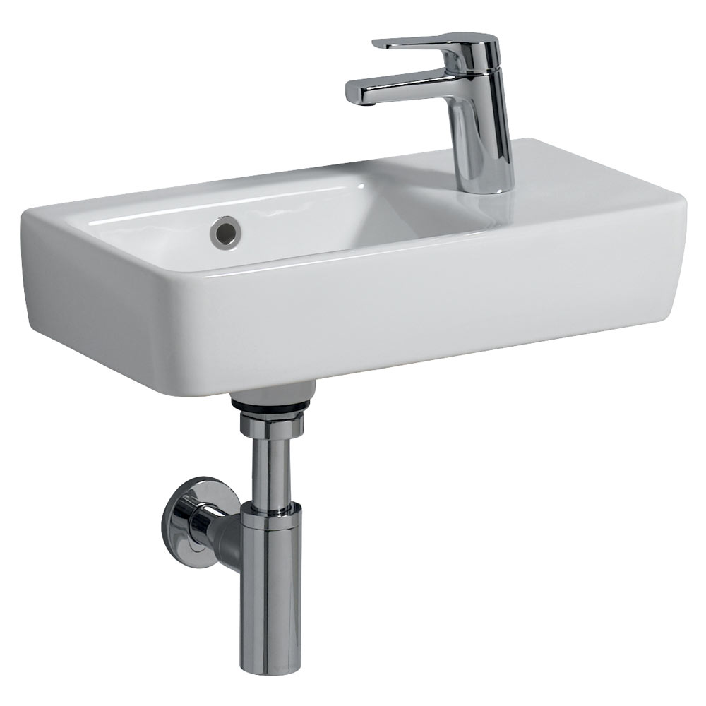 Twyford E200 Compact Washbasin (500 x 250mm - Right Hand Tap Hole)