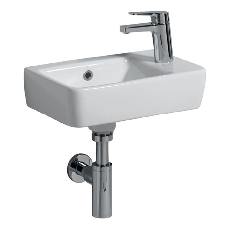 Twyford E200 Compact 400mm 1TH Handrinse Basin (Right Hand)