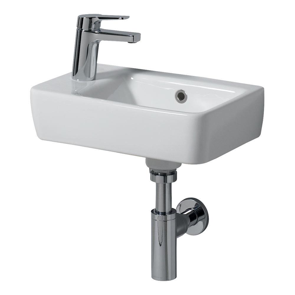 Twyford E200 Compact 400mm 1TH Handrinse Basin (Left Hand)