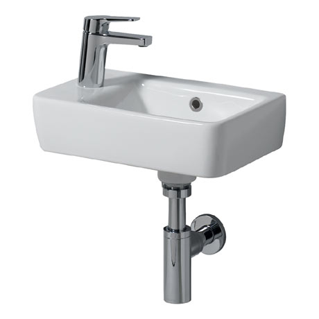 Twyford E200 Compact 400mm 1TH Handrinse Basin (Left Hand)