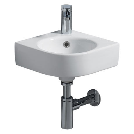 Twyford E200 Round 320mm 1TH Corner Handrinse Basin