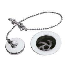 Hudson Reed Basin Waste w/ Brass Plug & Ball Chain - Chrome - E303 Medium Image