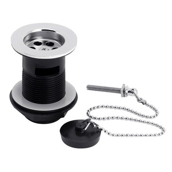 Ultra Contract Basin Waste with Poly Plug & Ball Chain - Chrome - E308 profile large image view 1