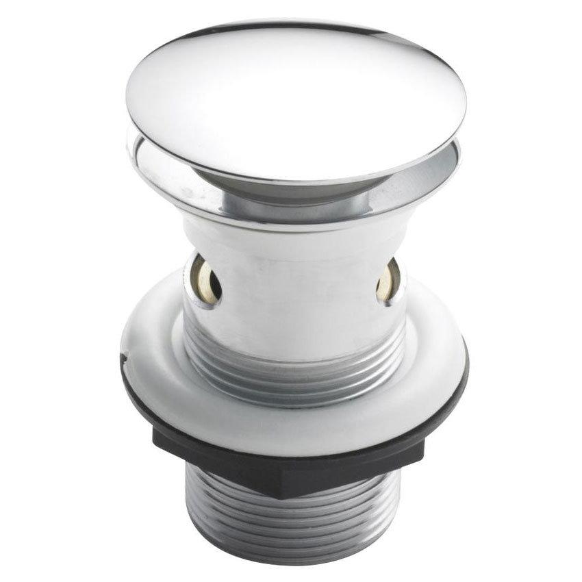Hudson Reed Easyclean Sprung Plug Basin Waste - Slotted - Chrome - E328 Large Image