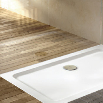 90mm High Flow Chrome Shower Tray Waste - E329 Profile Large Image