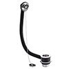 Nuie Chrome Bath Combined Waste & Overflow with Plug & Ball Chain - E345 profile small image view 1