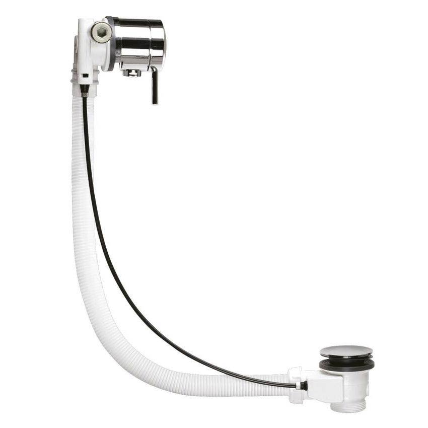 Hudson Reed Chrome Freeflow Bath Filler w/ Pop-up Waste & Overflow - E358 profile large image view 2