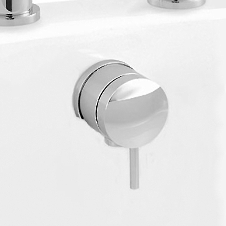 Hudson Reed Chrome Freeflow Bath Filler with Pop-up Waste + Overflow