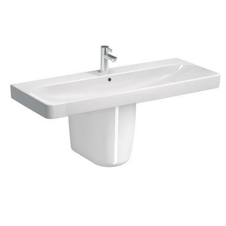 Twyford E500 Square 1200mm 1TH Basin & Semi Pedestal