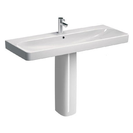 Twyford E500 Square 1200mm 1TH Basin & Pedestal