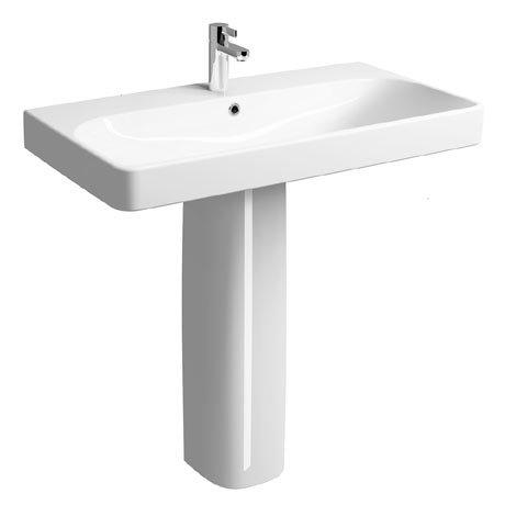 Twyford E500 Square 900mm 1TH Basin & Pedestal