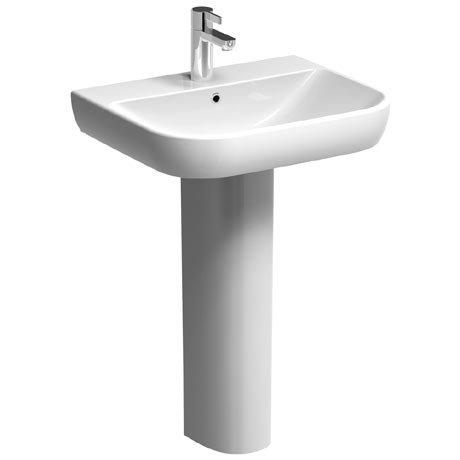 Twyford E500 Round 1TH Basin & Pedestal