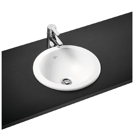 Ideal Standard Concept Sphere 38cm 0TH Inset Countertop Basin