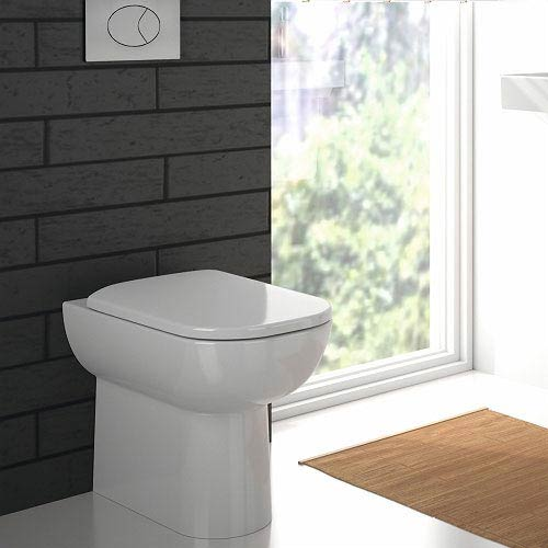 Twyford E500 Square Back to Wall Toilet Pan profile large image view 2