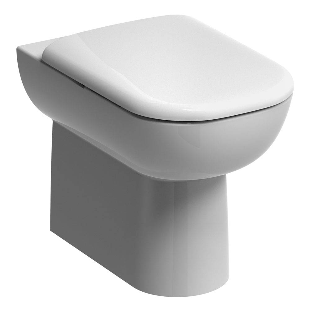 Twyford E500 Square Back to Wall Toilet Pan Large Image