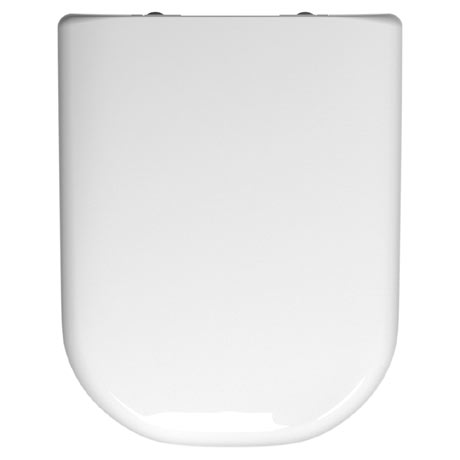 Twyford E500 Round Square Soft Close Toilet Seat and Cover