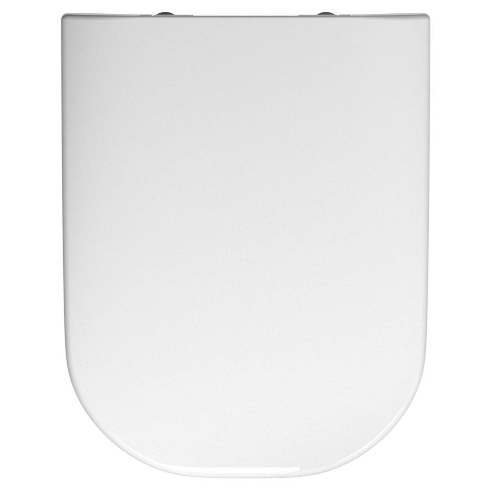 Twyford E500 Square Soft Close Toilet Seat and Cover Large Image