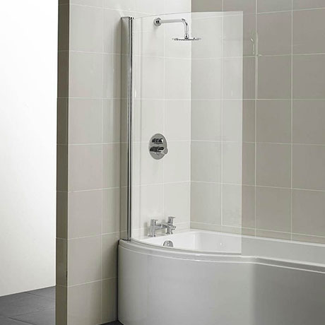 Ideal Standard Concept 1022 x 1500mm Curved Shower Bath Screen - E7407AA