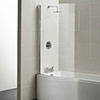 Ideal Standard Concept 1022 x 1500mm Curved Shower Bath Screen - E7407AA profile small image view 1