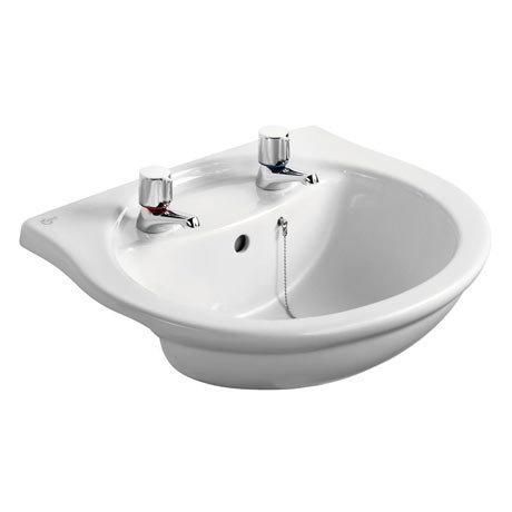 Ideal Standard Alto 55cm 2TH Semi-Countertop Washbasin