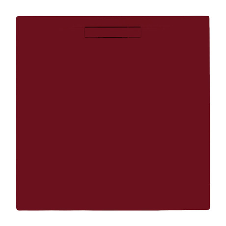 JT Evolved 25mm Square Shower Tray - Malbec Red
