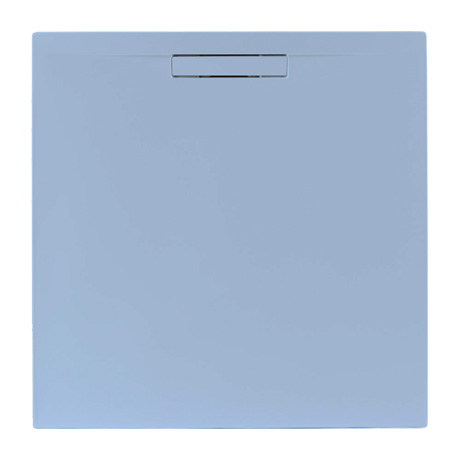 JT Evolved 25mm Square Shower Tray - Pastel Blue