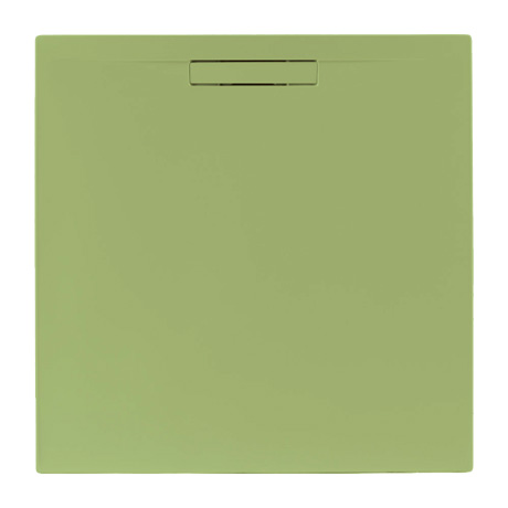 JT Evolved 25mm Square Shower Tray - Sage Green