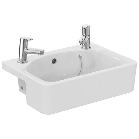 Ideal Standard Concept Space Cube 50cm 2TH Semi-Countertop Basin