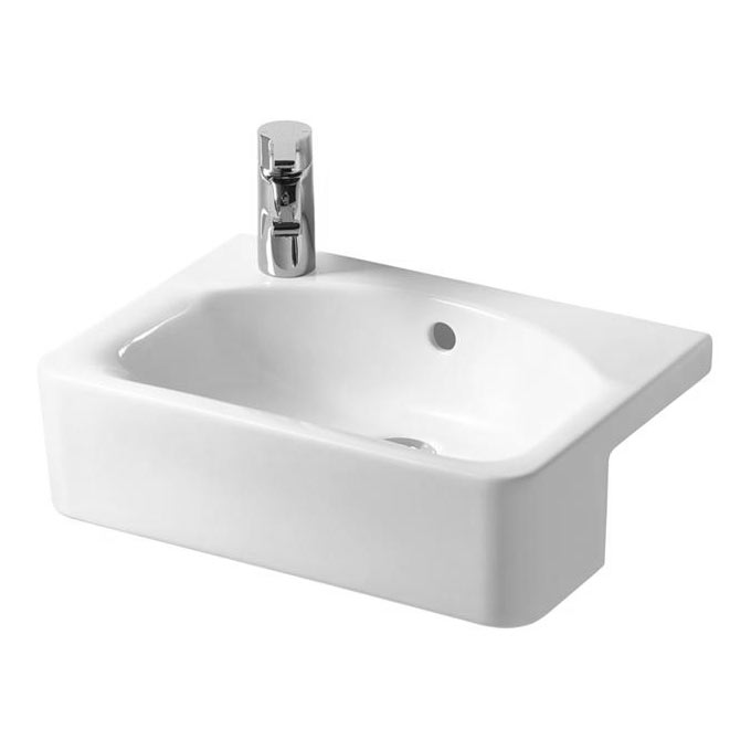 Ideal Standard Concept Space Cube 50cm 1TH Semi-Countertop Basin (Left Hand)